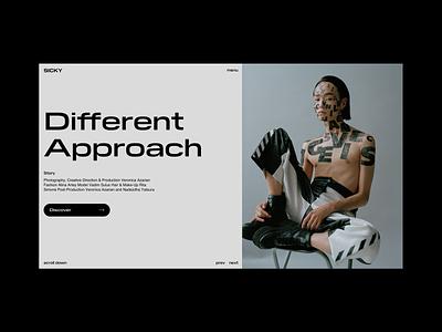 SICKY | UI Design Concept portfolio designer website clean georgia interface photography photo uidesign lookbook fashion inspiration ux design concept landing page web design ui