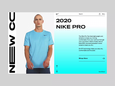 Nike | Animation bold monkey animation sport product store ecommerce shop clothes nike photo uidesign lookbook fashion clean ux design landing page concept web design ui
