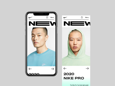 Nike | Mobile Version concept landing page store bold monkey fashion ui clothes sport shop ecommerce gradient nike product design responsive web design mobile