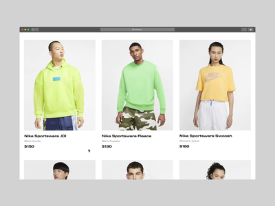 Product Page | Hover Effect hover product clean photo landing page uidesign ux ui bold monkey store ecommerce fashion shoes clothes sport shop sports nike animation web design