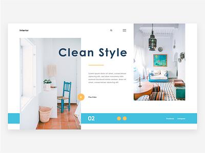 Interior design concept inspiration clean interior web deisgn ui