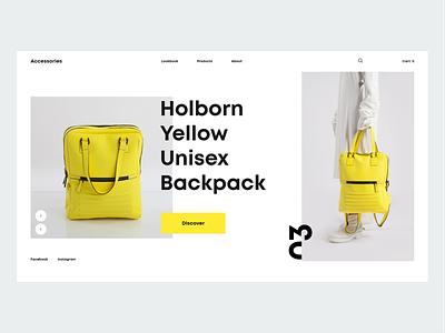 Accessories clean landing page web design concept inspiration ui lookbook bag fashion accessories