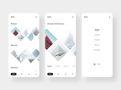 Archi design uidesign unsplash inspiration concept clean minimal mobile ui architecture mobile application appdesign app web design ux ui