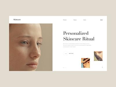 Skincare layout uidesign skin skincare lookbook inspiration concept fashion clean design landing page web design ux ui