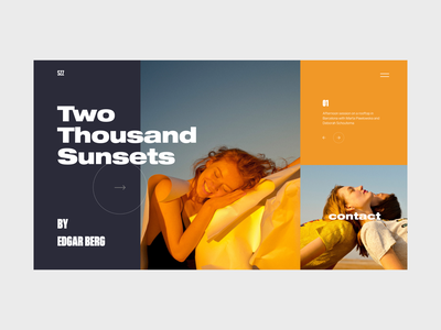 Two Thousand Sunsets sketch photo photography inspiration concept uidesign lookbook fashion clean design landing page web design ux ui