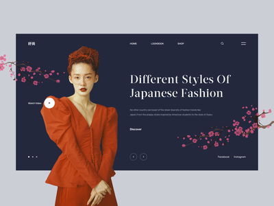 Japanese Fashion japanese japan uidesign lookbook fashion clean design inspiration landing page concept web design ux ui