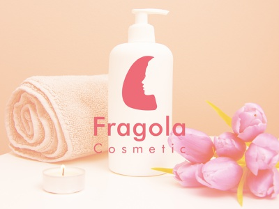 Fragola Cosmetic logo logotype bio cosmetic mockup cosmetic logo cure woman pink design process branding design design beauty strawberry cosmetics fragola cosmetic logo design logo brand identity design brand and identity brand design