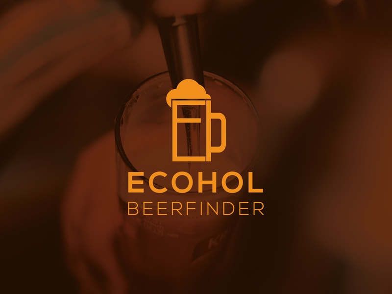 Ecohol  brewery Logo app design mobile application app icon visual identity visual design drinks drink brew brewery beer branding design brand identity brand design branding logo designer logo design design logo