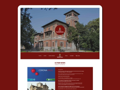 Busto Arsizio: Website Redesign webdevelopment italy dribbble playoff bustoarsizio bacity ux design ui design uiux ux ui graphic design graphicdesign web designer webdesigner website design web design webdesign website web