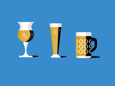Beer bible beers design colour organic vector illustrator simple illustration retro stippling anatomy glasses contrast grain publishing book bible beers