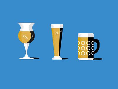 Beer bible beers design colour organic vector illustrator simple illustration retro stippling anatomy glasses contrast grain publishing book bible beers