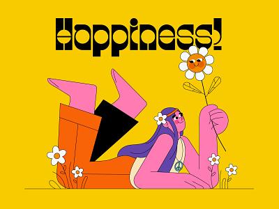 Happiness! character playful animation lemonly illustration