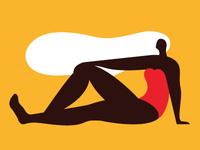 woman/yellow
