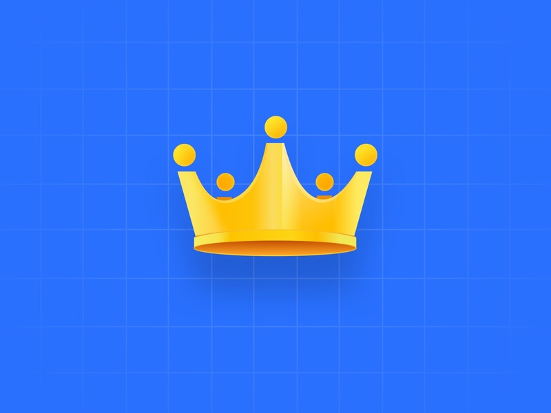 A big yellow crown!