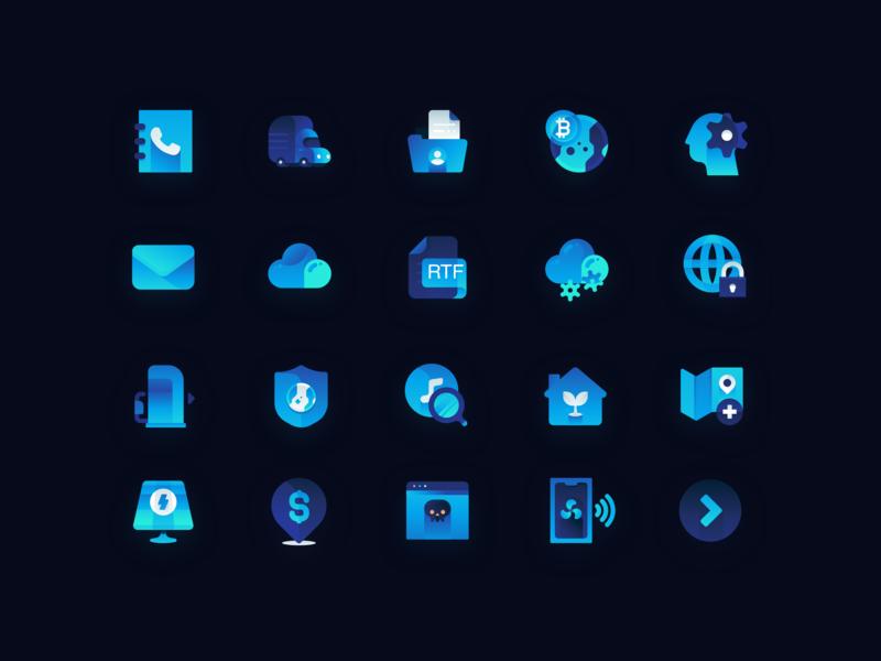 渐变风科技icon 设计 illustration