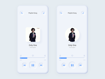 Song Player Neumorphism iphone 10 typography android illustration app ux ui design