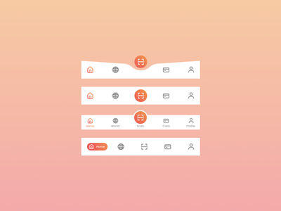 Bottom Navigation ux icon typography ui ux design mobile iphone 10 android app ui design