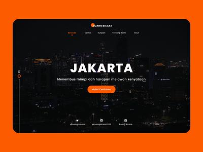 Ruang Bicara Landing Page feeds feeling typography app web ux landing page webdesign ui design