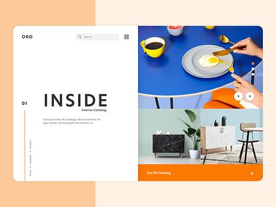 ORO Landing Page illustration ux webdesign interior landing page web ui design