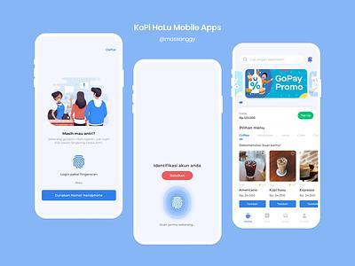 Coffee Booking - Mobile Apps freepik fingerprint coffee android illustration design app ux ui