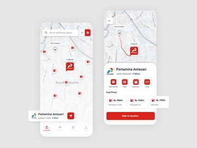 Gas Station UI App designer gasoline ux app android design ui
