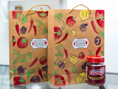 Hand drawn packaging design for chilli sauce