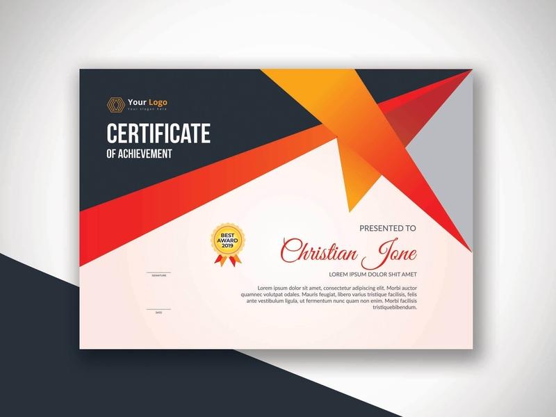 Certificate Design business blue graphics company clean photoshop illustration diploma design certificate