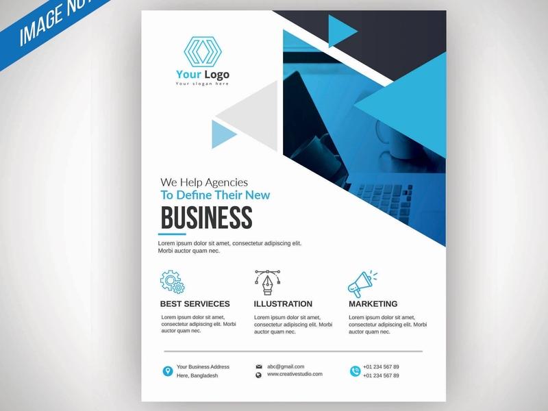 Business Flyer Design branding brand blue business graphics company design clean photoshop illustration flyer