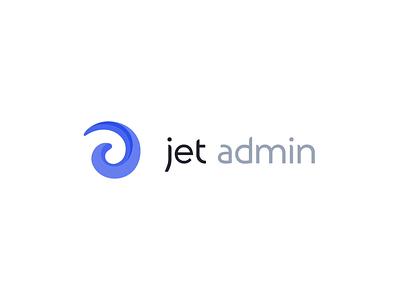 Jet Admin sign spin innovation safety universal jet identity design animation branding admin panel