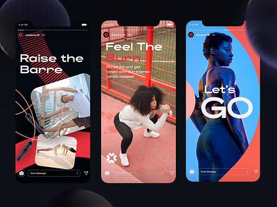 Presence - Social Media social media fitness app highlights instagram design identity branding