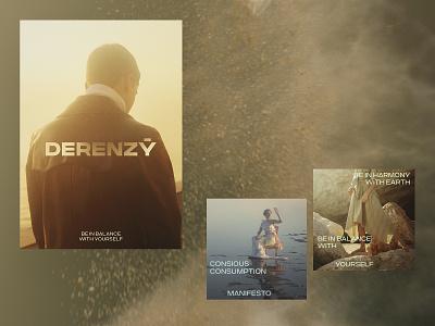 DERENZY concept graphic design consious consuption social concept identity logo design branding