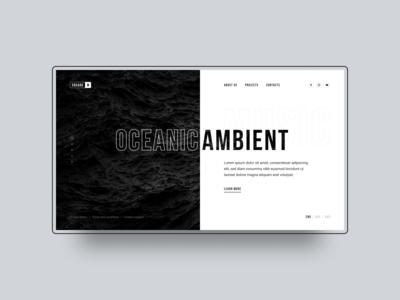 Ambient music UI concept