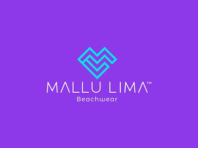 Mallu Lima Logo Design minimal icon design logotype beachware ml logo