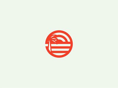 Beach Icon Logo logo beachware minimal icon