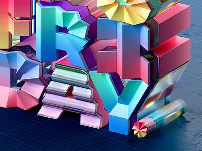 It's Friday! design muokkaa typography illustration 3d