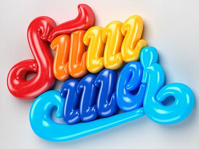 Summer time 🏝 muokkaa 3d summer lettering