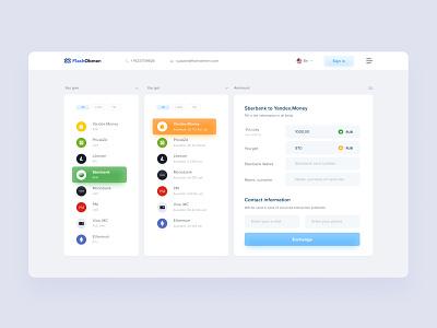 Money Exchange Service redesign web bank app interface ui design landingpage website bank exchange money