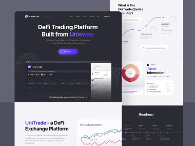 DeFi Trading Platform cryptocurrency crypto exchange bitcoin crypto app design website ui web landingpage