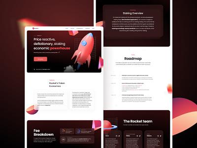 Rocket Website website design ui web landingpage