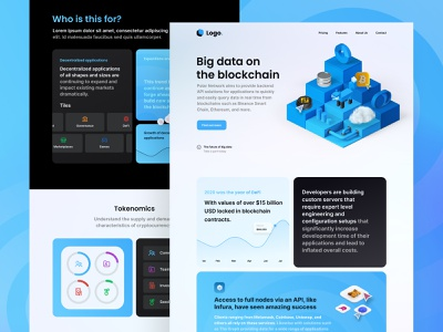 Big Data Blockchain Landing Page coin trading ethereum bitcoin blockchain cryptocurrency website design web landingpage