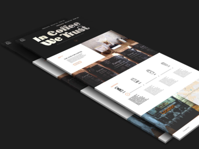 Coffee bar landing page concept