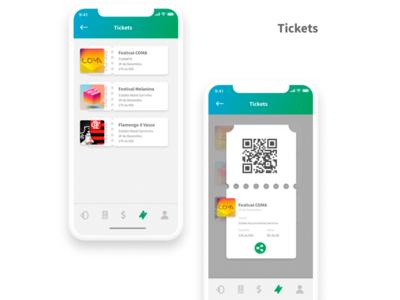 tickets screen