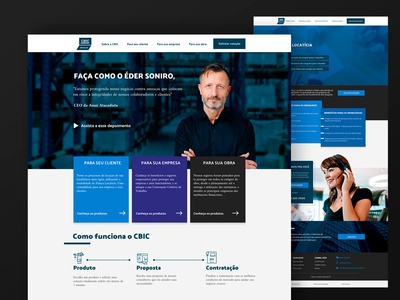 Business insurance landing page