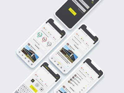 an app for politicians to manage their social media ux app ui design