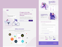 Landing page for a life insurance service