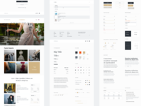 Fashion tailor's website styleguide webdesign clean simple ux ui catalog interface web fashion