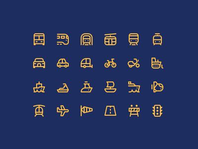 Transport 24icons moto cycle fly car dashboard ship bus icons design transport car icons set web website ui icons
