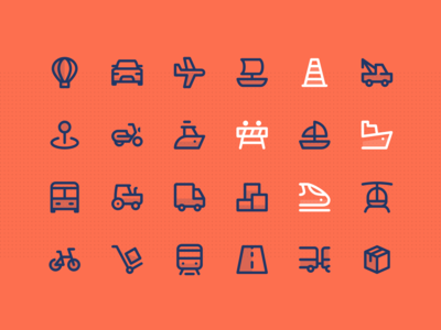 Greatlines - Transport icons