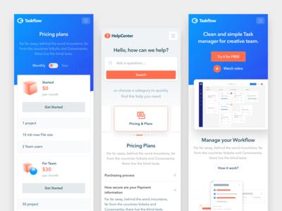 Taskflow Mobile view