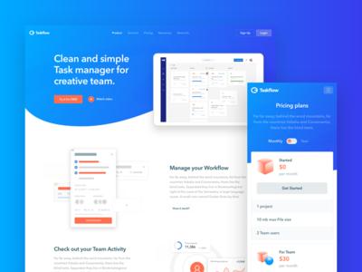 Taskflow - web design experience manager task illustration web dashboard ux ui